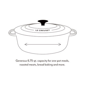 Le Creuset Round Wide Dutch Oven, 6.75 qt.