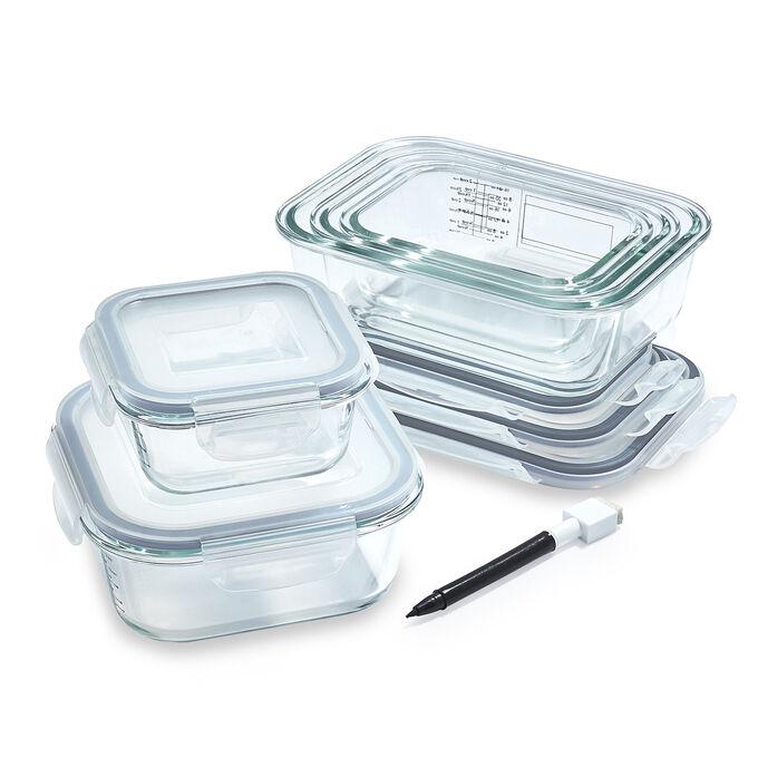Sur La Table 10-Piece Glass Storage Container Set with Pen