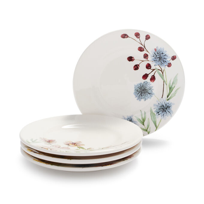 Wildflower Appetizer Plates, Set of 4