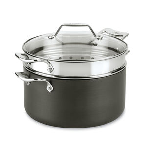 All-Clad Essentials Stock Pot with Lid and Multipurpose Insert, 7 qt.