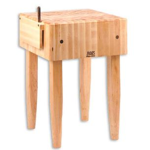 "John Boos & Co. Butcher Block Table, 24"" x 18"" x 10"""