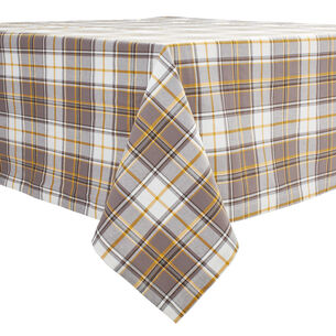 "Fall Plaid Tablecloth, 120"" x 70"""