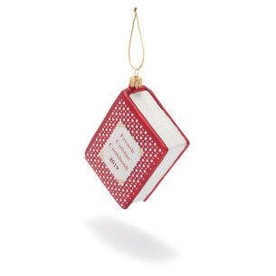 French Cookbook Glass Ornament