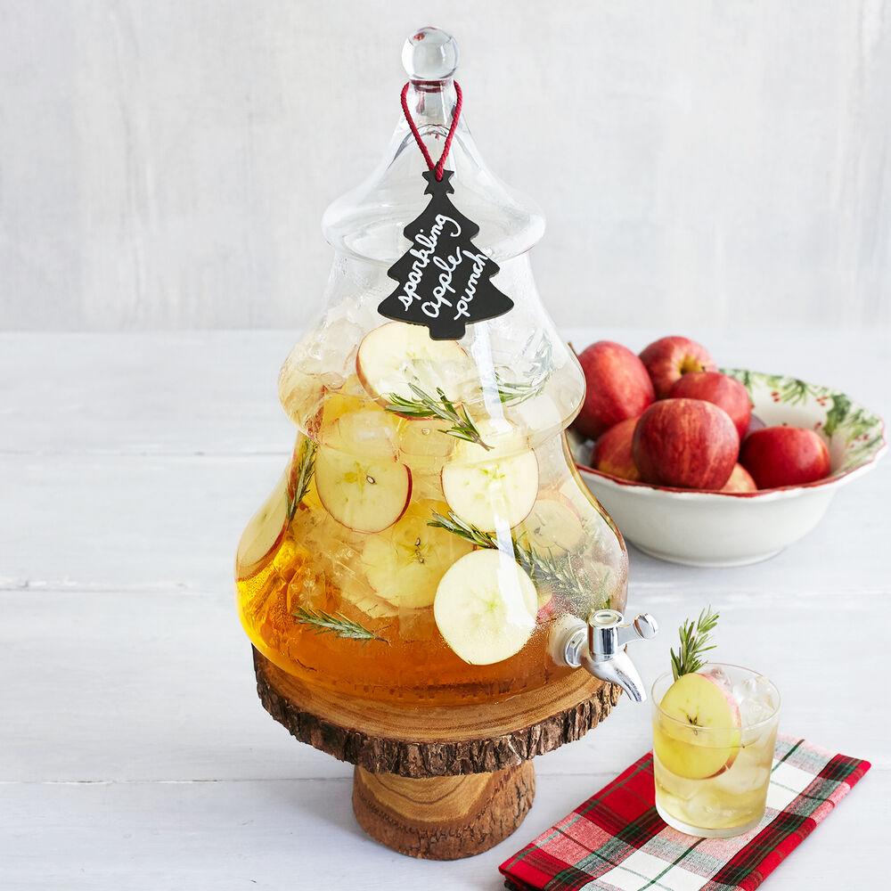 Wood Slice Beverage Stand