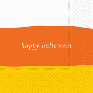 """Happy Halloween"" Candy Corn Cocktail Napkins, Set of 20"