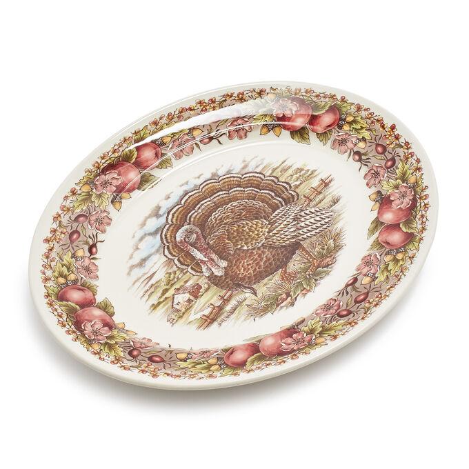 "Royal Stafford Turkey Oval Platter, 14.5"""