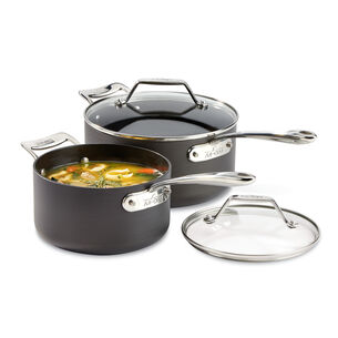 All-Clad Essentials 4-Piece Saucepan Set