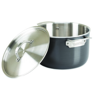 Viking Hard Anodized Stainless Steel Stockpot, 7 qt.