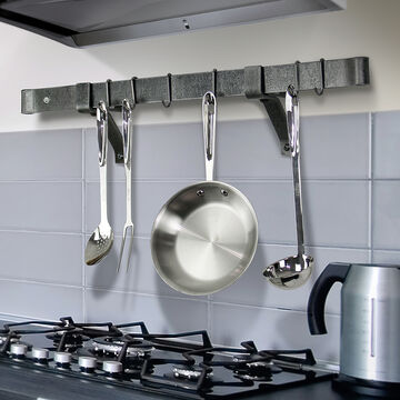 """Enclume Handcrafted 4"""" Wall Brackets and 48"""" Rolled-End Bar"""