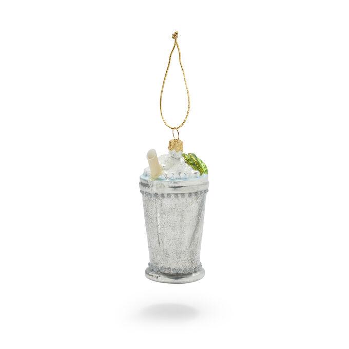 Mint Julep Glass Ornament