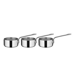 Scanpan Maitre d' Stainless Steel Saucepans, Set of 3, with Slate Board