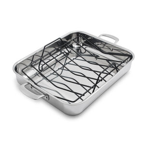 La Marque 84 Stainless Steel Roaster with Nonstick Roasting Rack