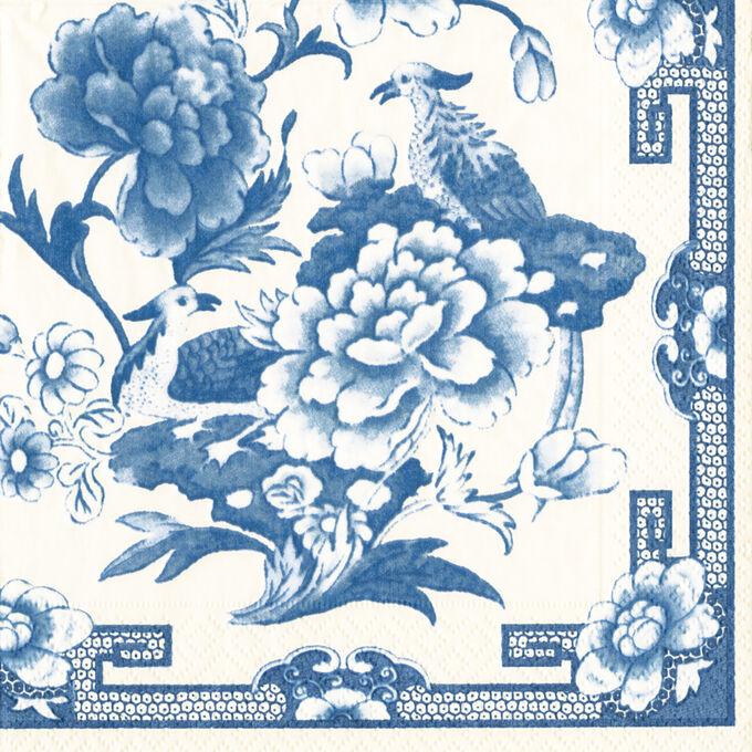 Blue & White Cocktail Napkins, Set of 20