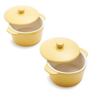Stoneware Mini Cocottes, Set of 2