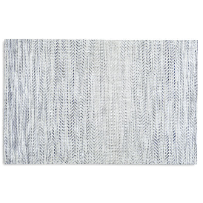 Chilewich Wave Floor Mat, Blue