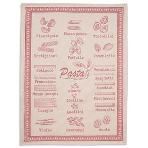 Pasta Red Jacquard Kitchen Towel