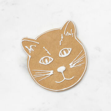 """Cat Face Cookie Cutter, 3.5"""""""