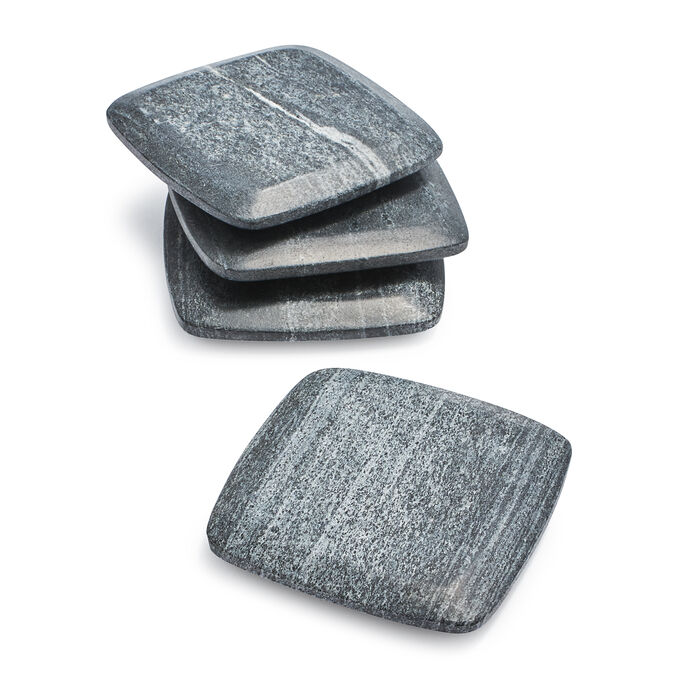 Gray Marble Coasters, Set of 4