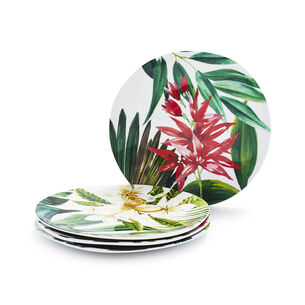 Cabana Melamine Appetizer Plates, Set of 4