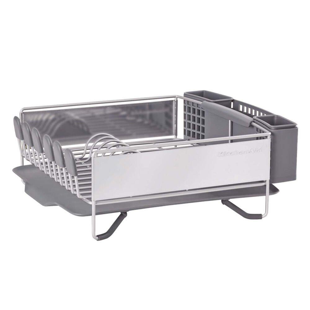 KitchenAid Compact Stainless Steel Dish Rack, Satin Gray