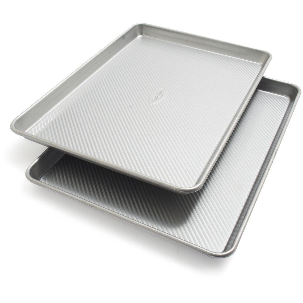 """Sur La Table Platinum Pro Half Sheet Pans, 17.25"""" x 12.25"""", Set of 2"""