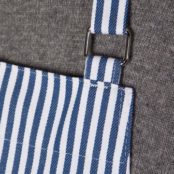 Blue Narrow Stripe Apron