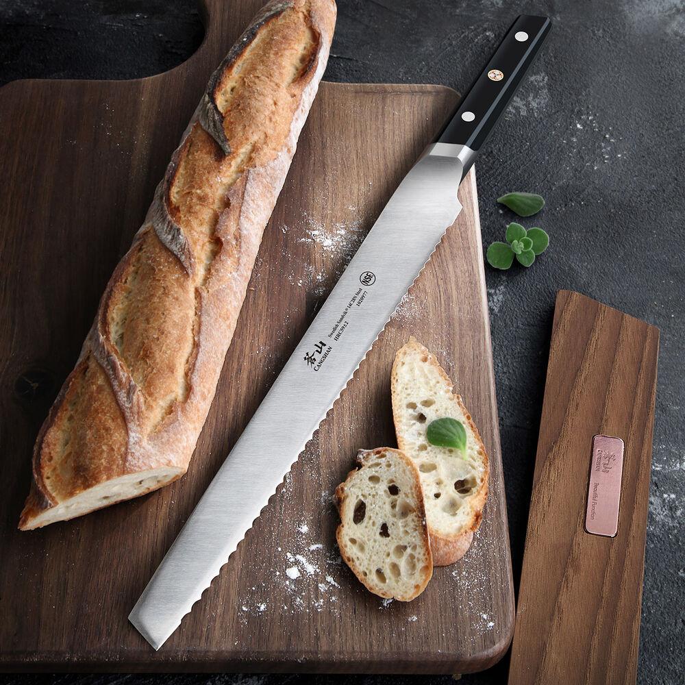 Cangshan TC Series Swedish Sandvik Steel Forged Bread Knife & Wood Sheath Set