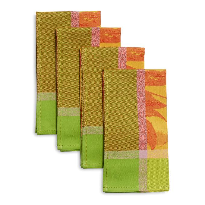 Jacquard Citrus Napkins, Set of 4