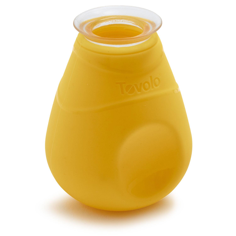 White /& Yellow Tovolo Yolk Out Silicone Egg Yolk Separator Tool 4-Piece Set