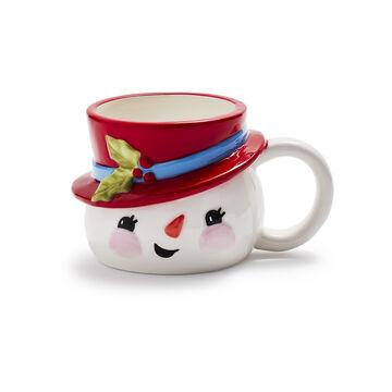 Figural Snowman Mug
