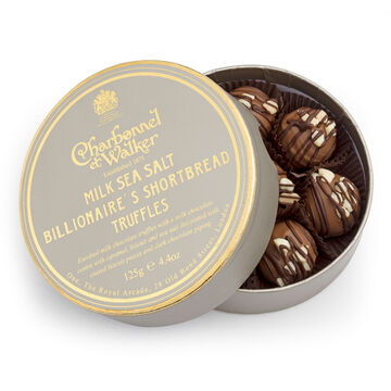 Milk Chocolate Sea Salt Billionaire's Shortbread Truffles, 4.4 oz.