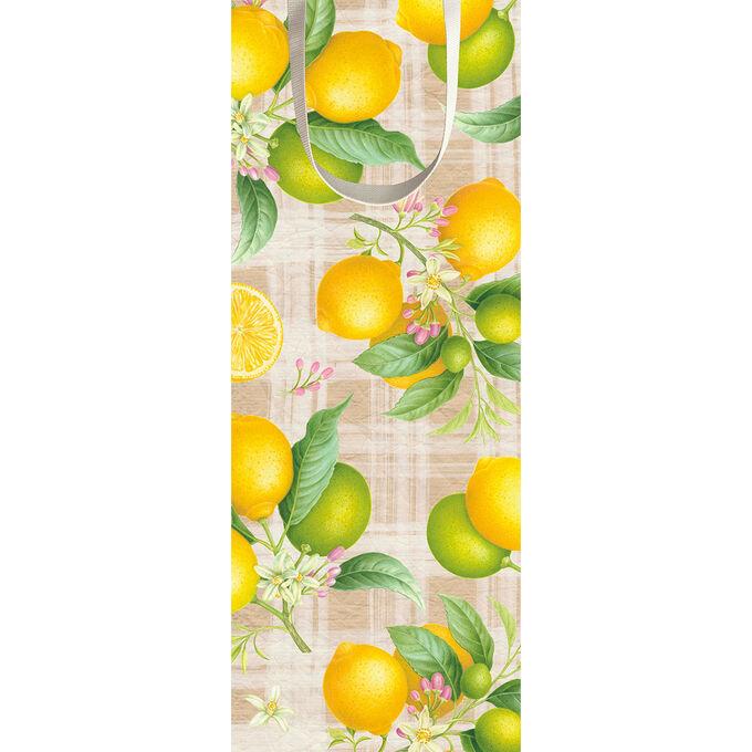 Caspari Citron Wine Gift Bag