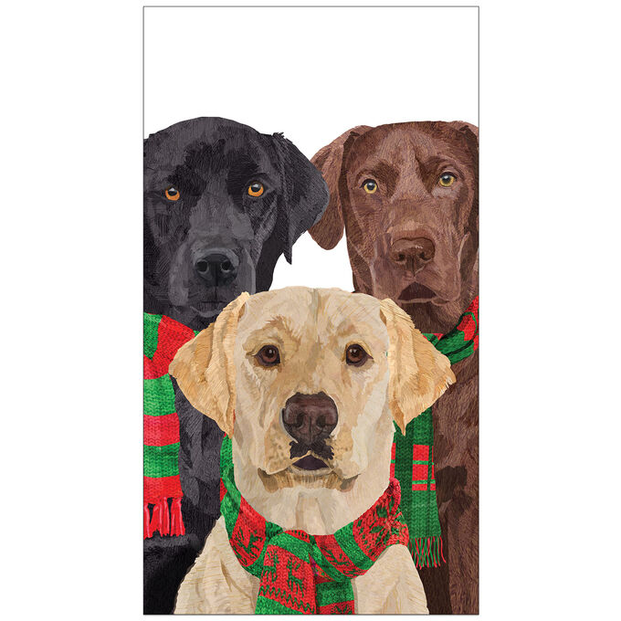 Merry Lab Guest Napkins, Set of 15