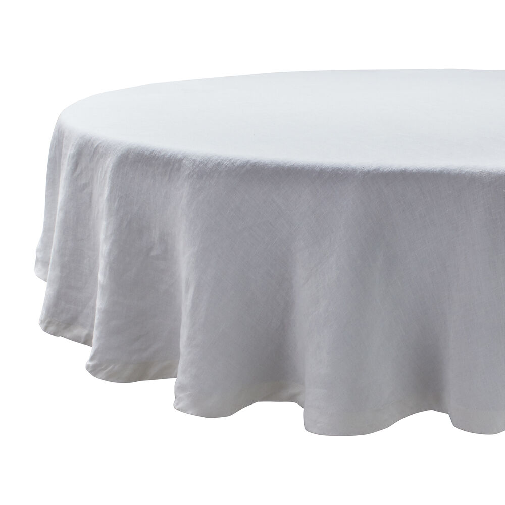 Round Linen Tablecloth, 70""
