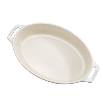 Staub Rustic Ceramic Oval Bakers, Ivory