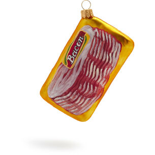 Packaged Bacon Glass Ornament