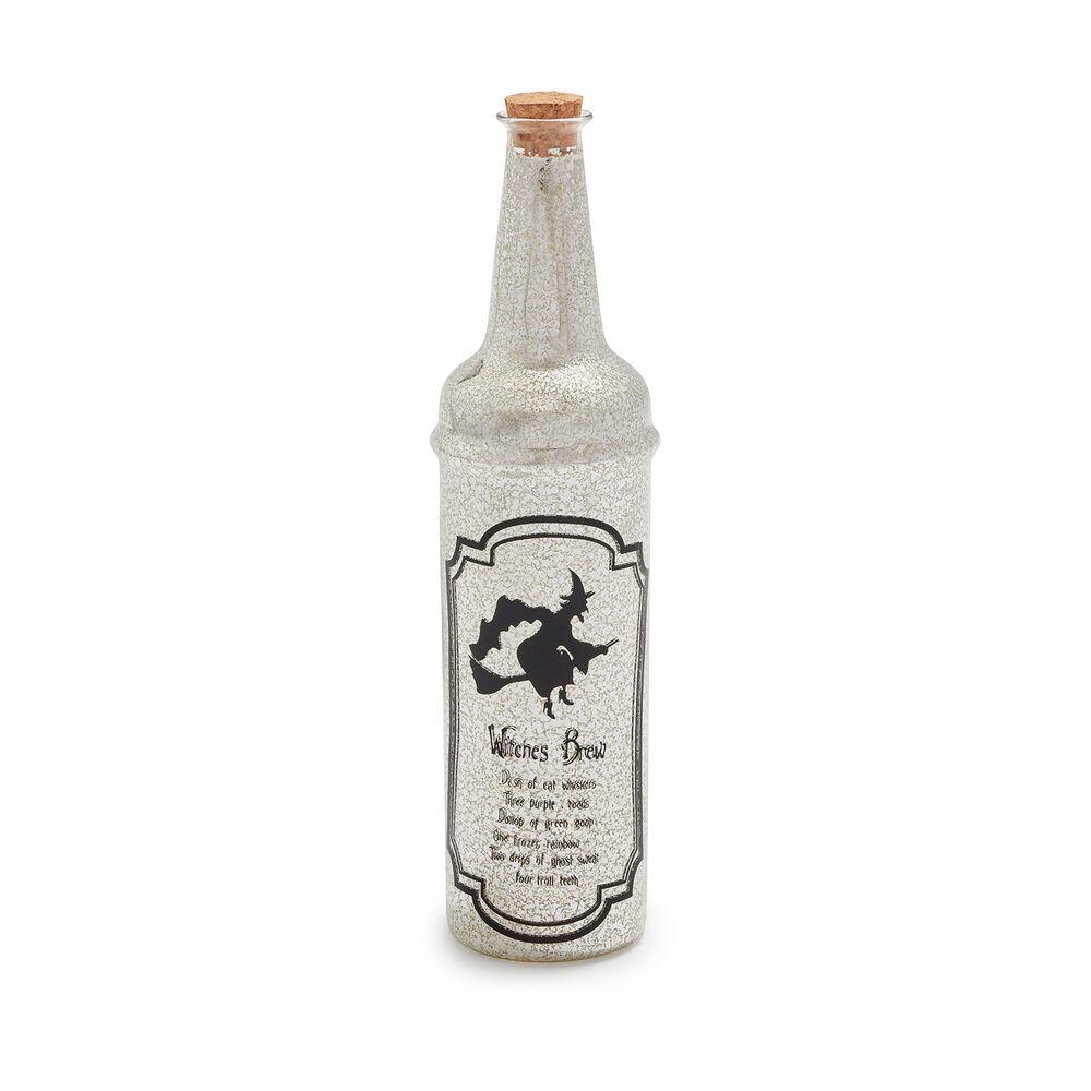 Decorative Mercury Glass Halloween Potion Bottles