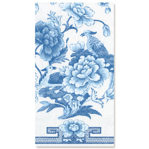 Blue & White Paper Guest Napkins, Set of 15