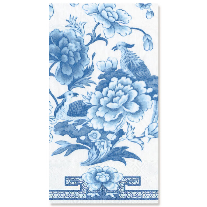 Blue & White Paper Guest Napkins, Set of 15