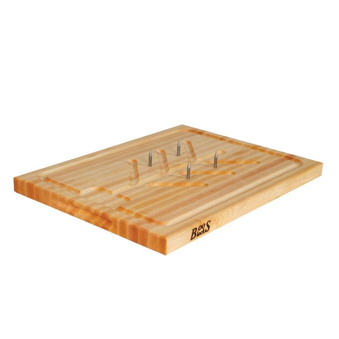 "John Boos Reversible End-Grain Maple Slicer Board, 20"" x 15"""
