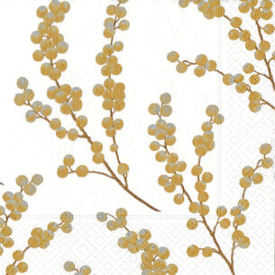 Berry Branches Paper Cocktail Napkins, Set of 20