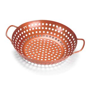 Outset Round Nonstick Grill Wok, Copper