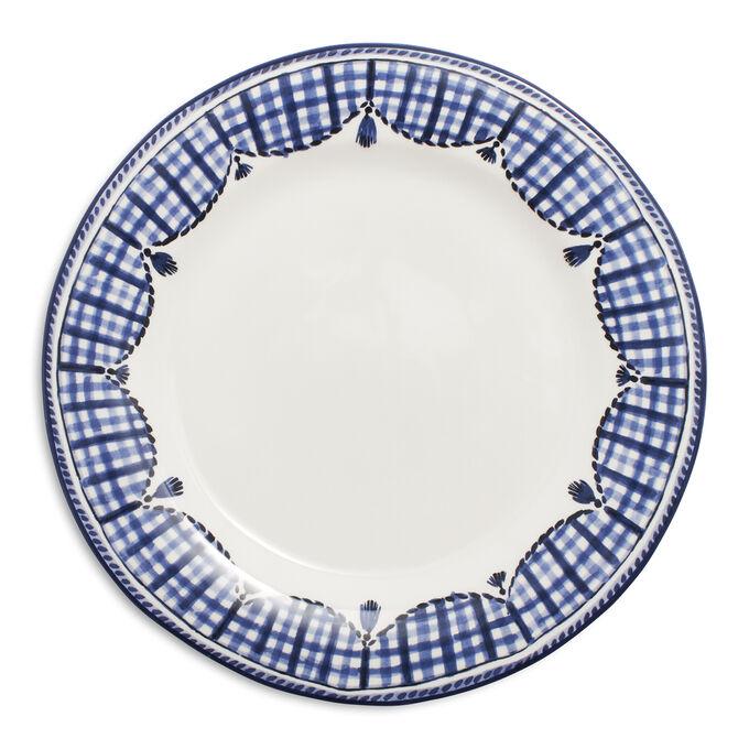 Gingham Dinner Plate