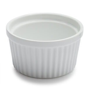 Sur La Table Porcelain Round Ramekin with Ribbed Side, 7 oz.