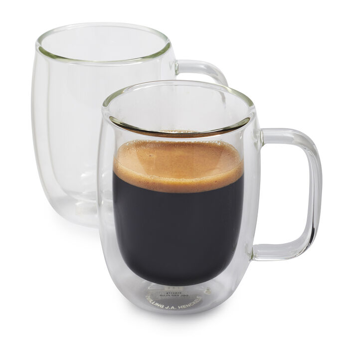 Zwilling J.A. Henckels Sorrento Plus Double-Wall Double Espresso Glasses, 4.5 oz., Set of 2