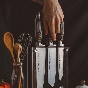 Schmidt Brothers Cutlery Bonded Ash 7-Piece Knife Block Set