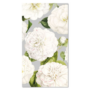 White Floral Paper Napkins, Set of 15