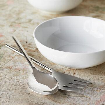 Hammered Silver Serving Fork