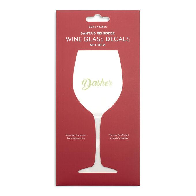 Sur La Table Reindeer Wine Decals, Set of 8
