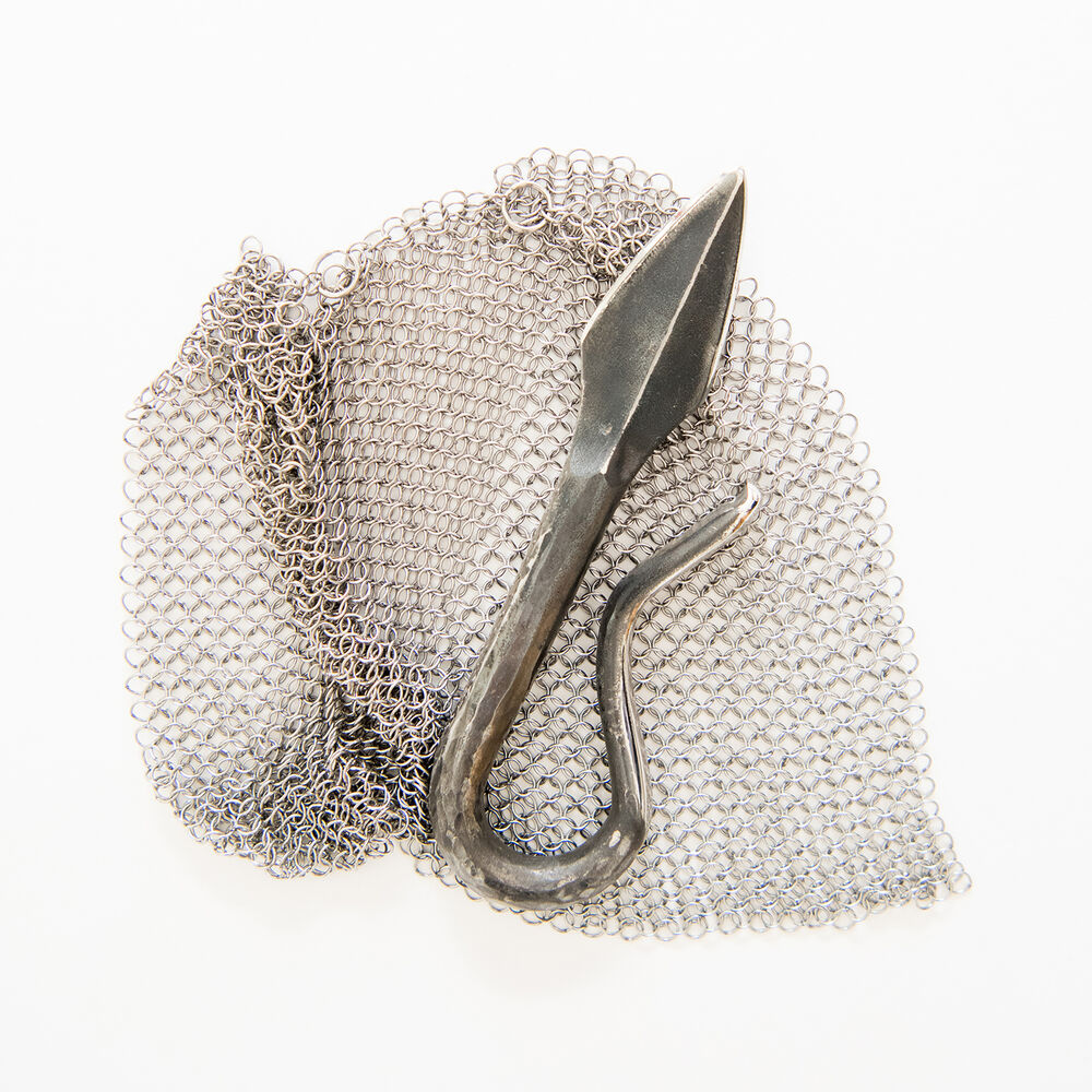 Sea Island Forge Oyster Knife and Chainmail Shuck Guard